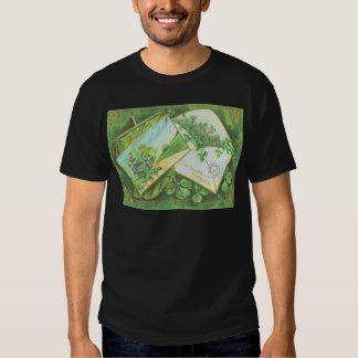 Shamrock Envelope Postcard Irish Flag Tee Shirt