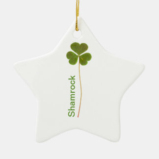 Shamrock for Saint Patrick's Day Christmas Ornament