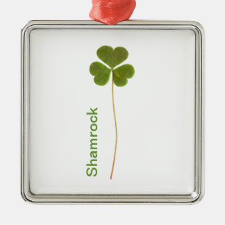 Shamrock for Saint Patrick's Day Christmas Ornaments
