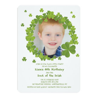 Shamrock Frame Invitation