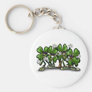 Shamrock Gang Basic Round Button Key Ring