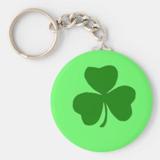 Shamrock Gift Basic Round Button Key Ring