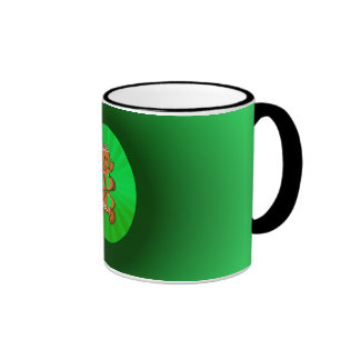 SHAMROCK GIRL & LIGHT RAYS by SHARON SHARPE Coffee Mugs