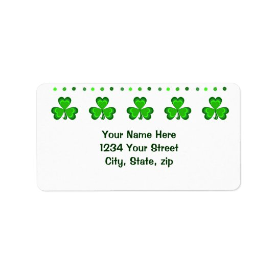Shamrock Glory Address Label