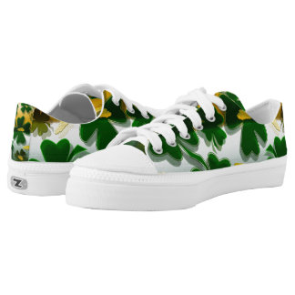Shamrock Gold Coins Printed Shoes