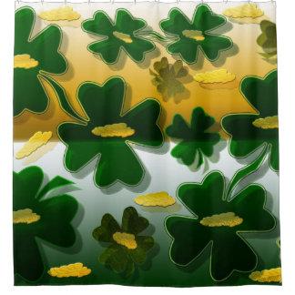 Shamrock Gold Coins Shower Curtain