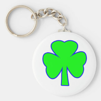 Shamrock Green Blue The MUSEUM Zazzle Gifts Key Chains