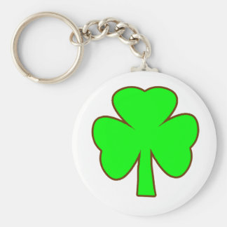 Shamrock Green Brown The MUSEUM Zazzle Gifts Key Chain