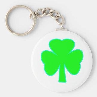 Shamrock Green Cyan The MUSEUM Zazzle Gifts Keychains