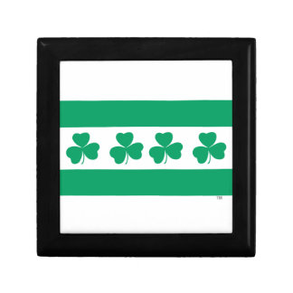 Shamrock Green River Small Square Gift Box