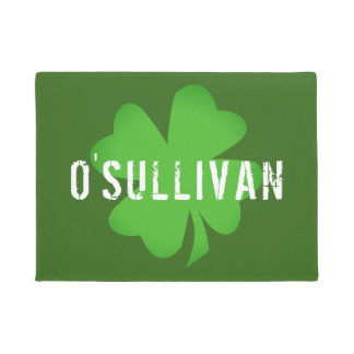 Shamrock Green with Custom Text Doormat