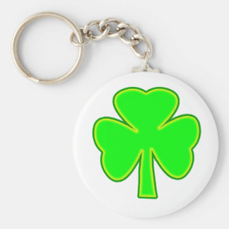 Shamrock Green Yellow The MUSEUM Zazzle Gifts Keychains