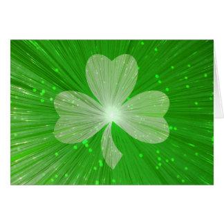 Shamrock 'Happy St Patrick's Day' greetings card