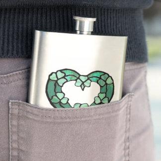 Shamrock Heart Flask