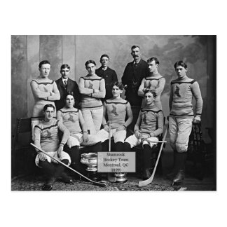 Shamrock Hockey Team, Montreal, QC 1899` Postcard