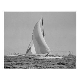 Shamrock III at the America's Cup Finish 1903 Poster