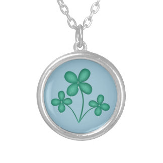 Shamrock in the Rain St Patrick's Day Necklace