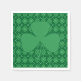 Shamrock Irish Argyle Napkins Disposable Napkin