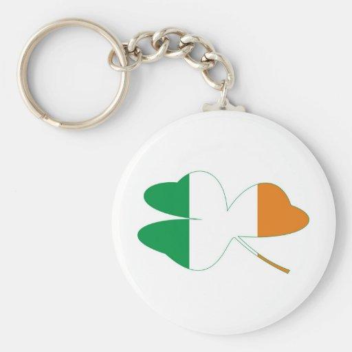 Shamrock Irish Flag Keychain