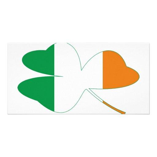 Shamrock Irish Flag Photo Card