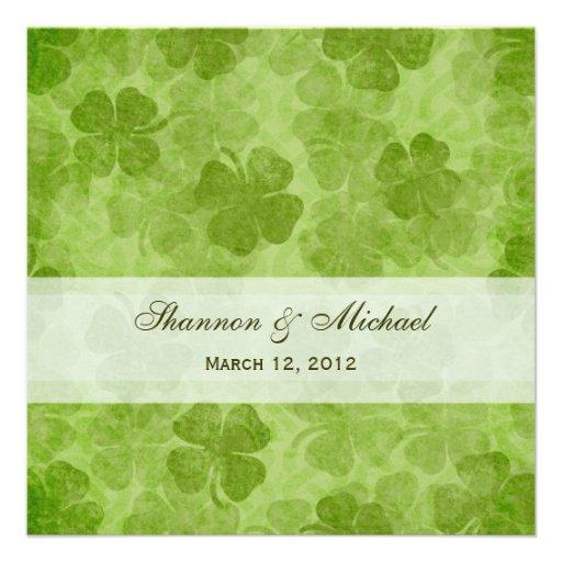 Shamrock Irish Wedding Invitation