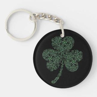 Shamrock Single-Sided Round Acrylic Keychain