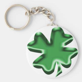 Shamrock Basic Round Button Key Ring