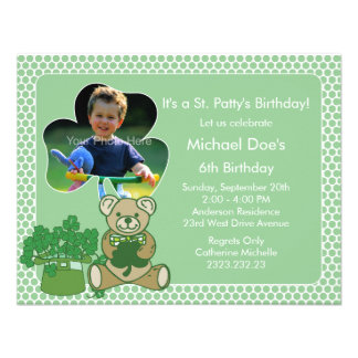 Shamrock Kid s St Patrick s Day Bash Invitations