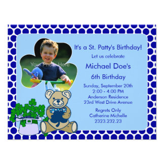 Shamrock Kid s St Patrick s Day Bash Invites