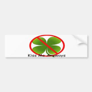 Shamrock Kiss Sign Bumper Stickers