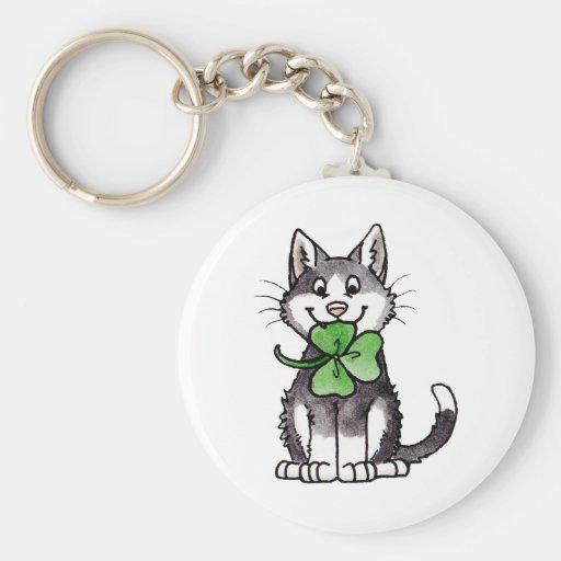 Shamrock Kitty Key Chains