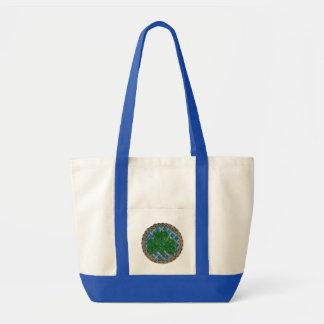 Shamrock, Lattice And Celtic Knots On Blue Bag