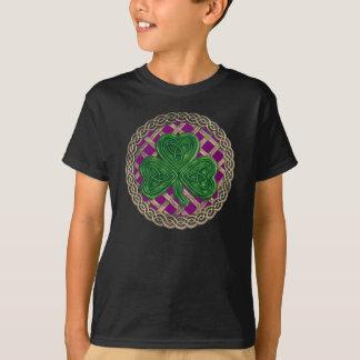 Shamrock Lattice And Celtic Knots On Purple Shirt