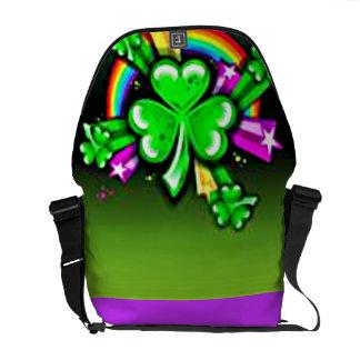 Shamrock love Rickshaw Messenger Bag