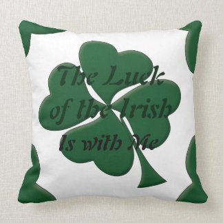 Shamrock Luck of the Irish Decorative Pillow