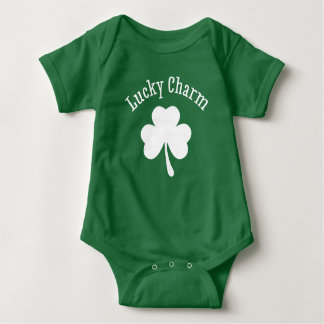 Shamrock Lucky Charm Baby Bodysuit Outfit