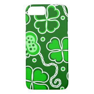 Shamrock Lucky Four Leaf Clover & Butterflies iPhone 8/7 Case
