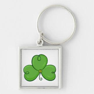 Shamrock Lucky Green Clover keychain