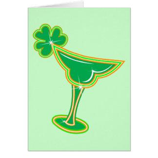 Shamrock Margarita Card