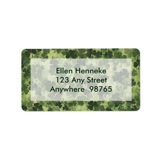 Shamrock Meadow 1 Address Label