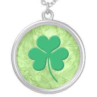 Shamrock Round Pendant Necklace