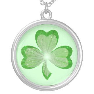 Shamrock necklace green