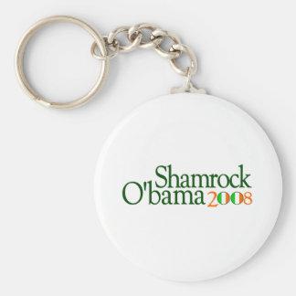 Shamrock Obama 2008 Key Ring