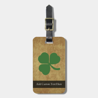Shamrock on Vintage Background Luggage Tag