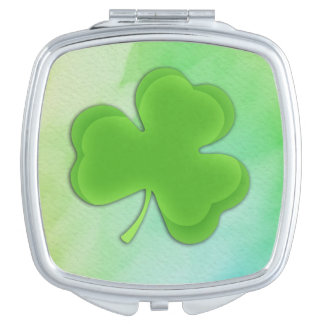 Shamrock on Watercolor Mirrors For Makeup