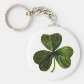 shamrock or lucky clover keychain