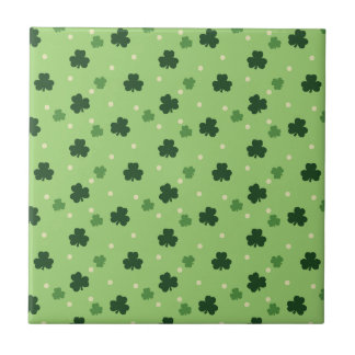 Shamrock Pattern Ceramic Tile