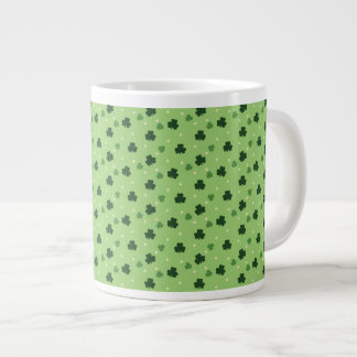 Shamrock Pattern Jumbo Coffee Mug