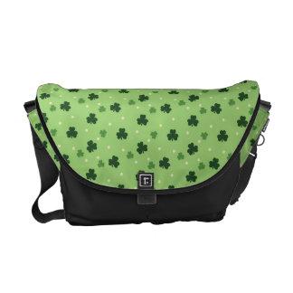 Shamrock Pattern Messenger Bag