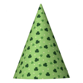 Shamrock Pattern Paper Party Hats